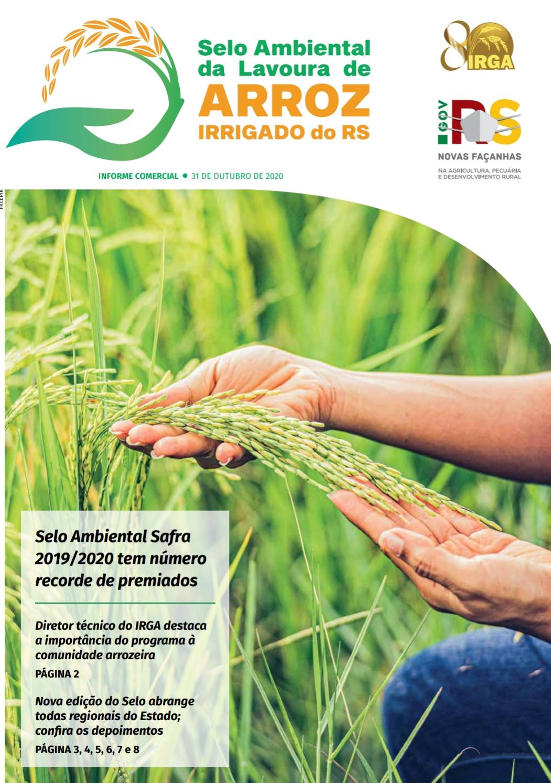Matéria IRGA RS - Selo ambiental